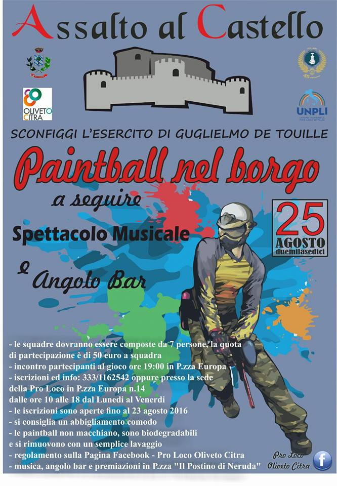 Assalto al Castello oliveto citra 2016
